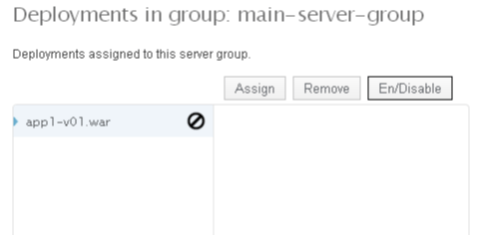 Wildfly Deployment in Group screen