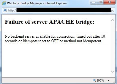 Failure Of Server APACHE bridge