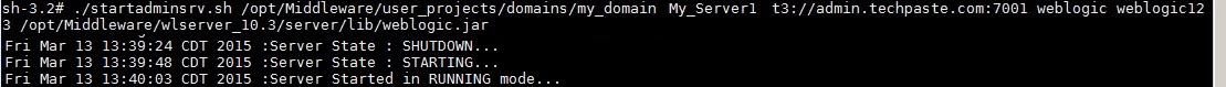 start weblogic server