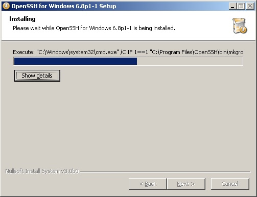 windows ssh server install