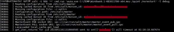Salt Stack Windows Patching Example