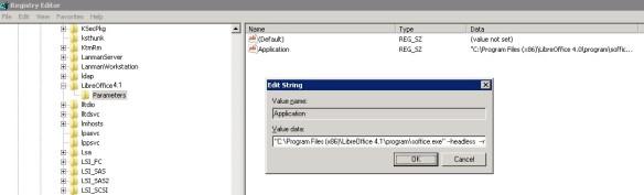 LibreOffice as windows service