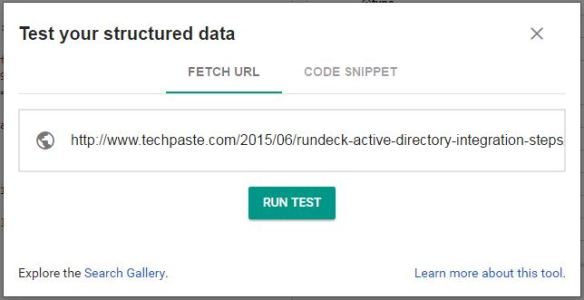 Structured Data hentry testing