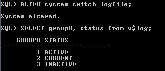 Oracle Redo Log Size Switch