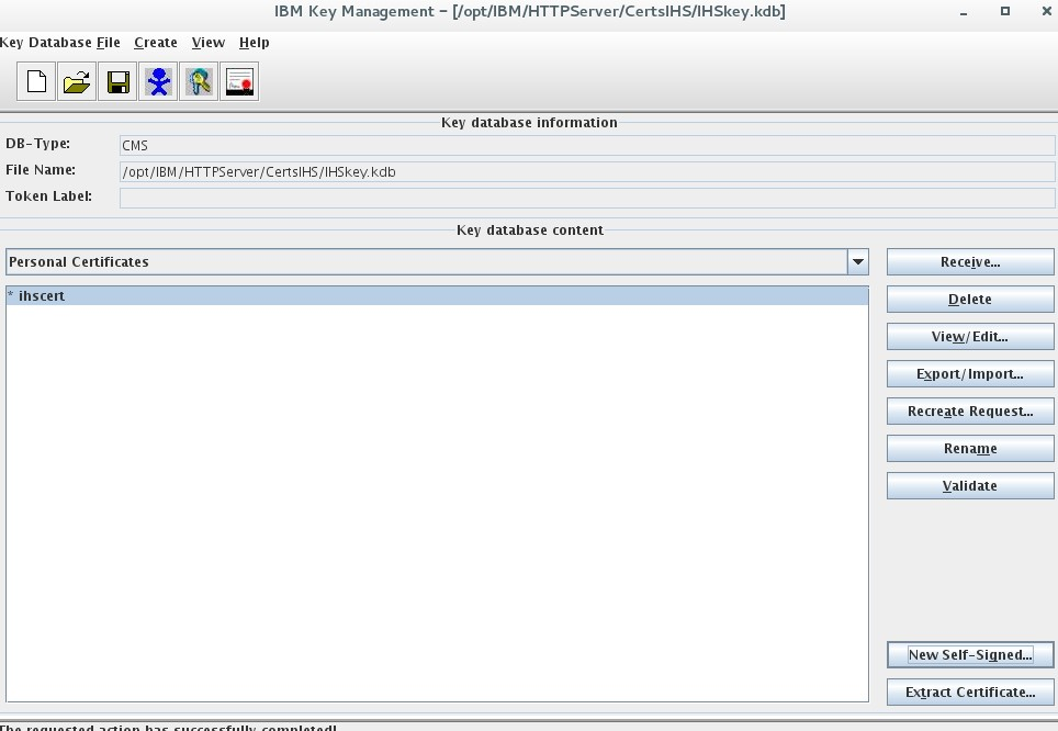 WebSphere Liberty ikeyman create SSL