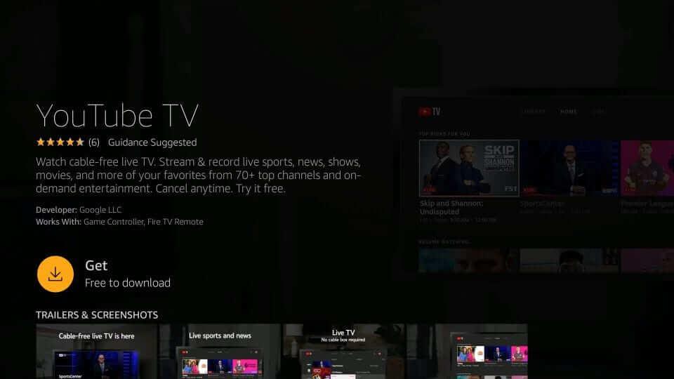 Download YouTube TV on Firestick
