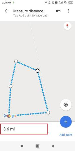 Measure Distance on Google Maps on Android