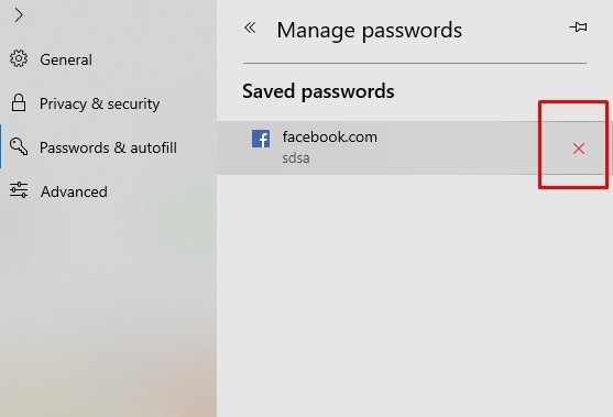 How to Delete Saved Passwords on Computer using Microsoft Edge