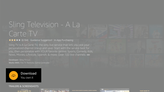 Download and Install Sling TV on Firestick