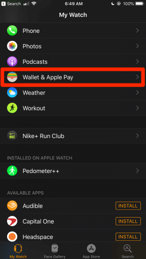 Wallet & Apple Pay