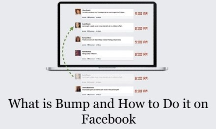 What Does Bump mean on Facebook and How to Use it