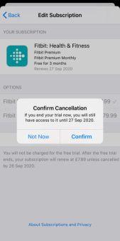 Cancel Fitbit Premium