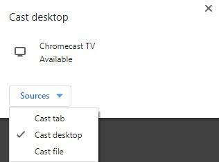 Cast Desktop - Google Chrome - Chromecast Windows Media Player