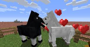 Breed horses in Minecraft game