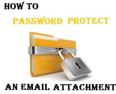 How to Password Protect an Email Attachment