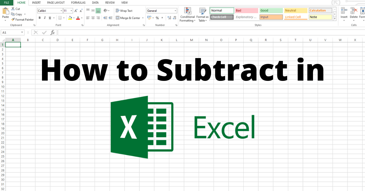 How to Subtract in Excel [4 Different Ways]