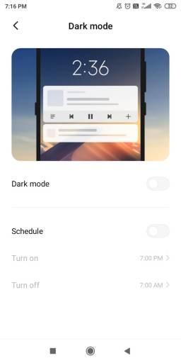 Play Store Dark Mode