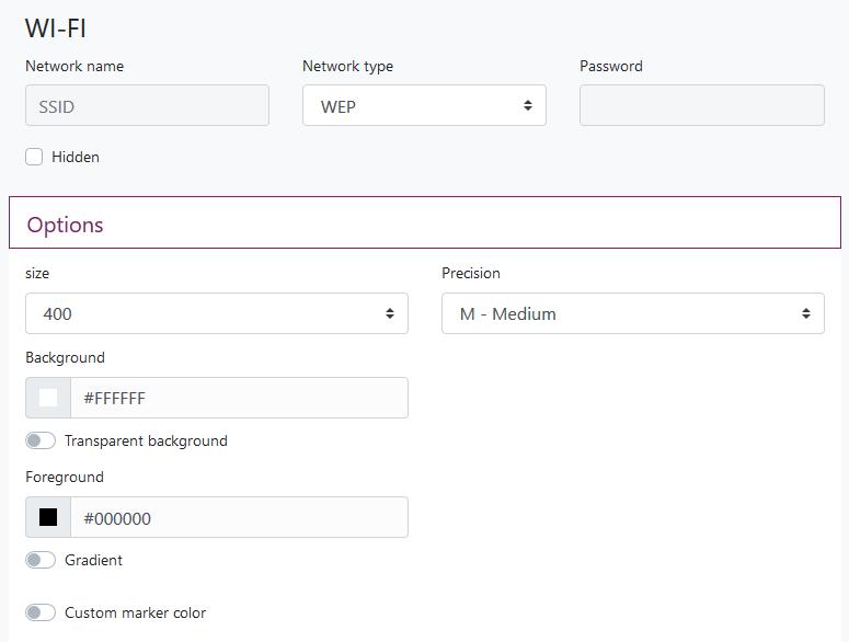 QR Code Generator for WiFi