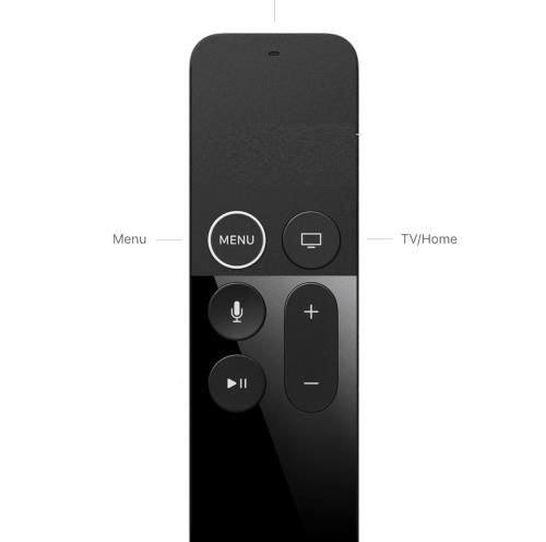 Restart Apple TV using Siri Remote