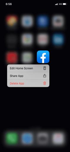 Delete App option