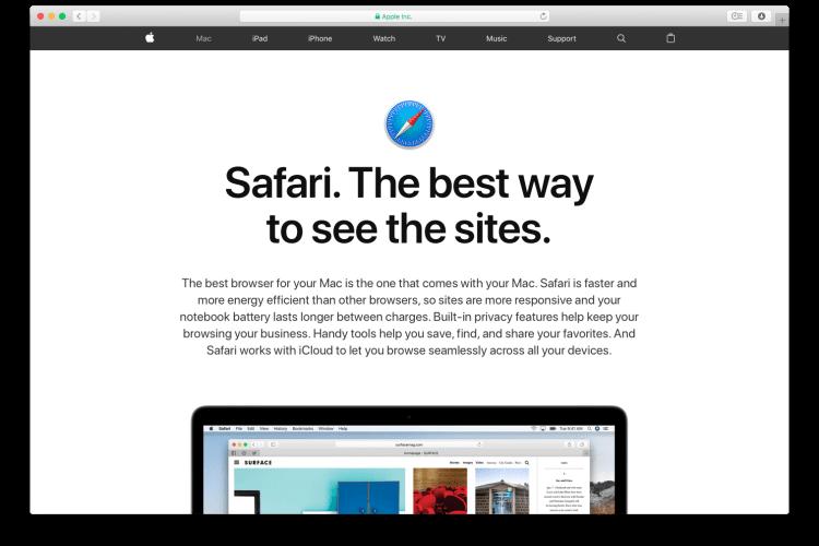 Best Web Browser for Mac - safari
