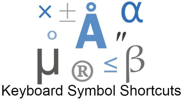 Complete Keyboard Symbol Shortcuts [Windows & Mac]