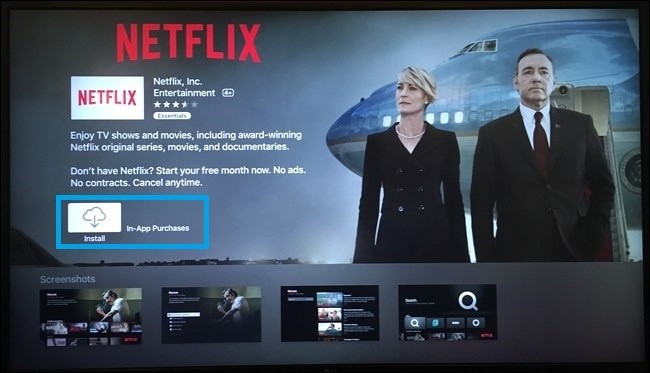 Install Netflix on Apple TV