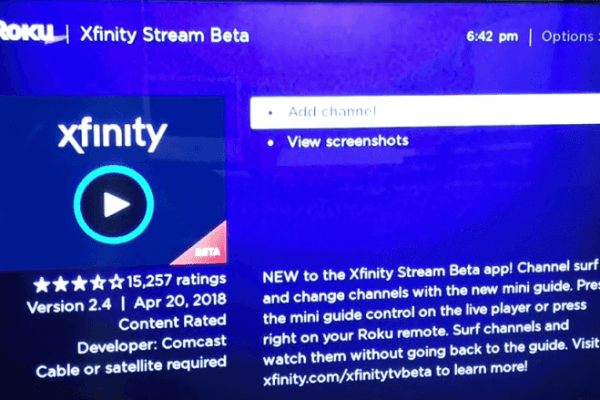 Download Xfinity on Roku