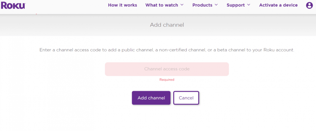 Add Private Channel On Roku