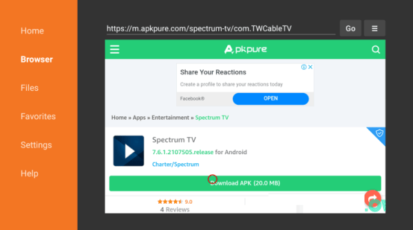 Install Spectrum TV on Firestick - Download Apk