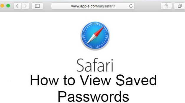 How to View Saved Passwords on Safari Web Browser