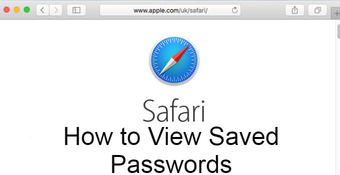 Saved Passwords on Safari