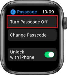 Turn Passcode off option