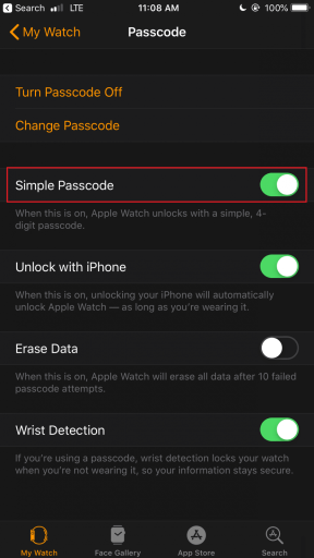 Simple Passcode toggle