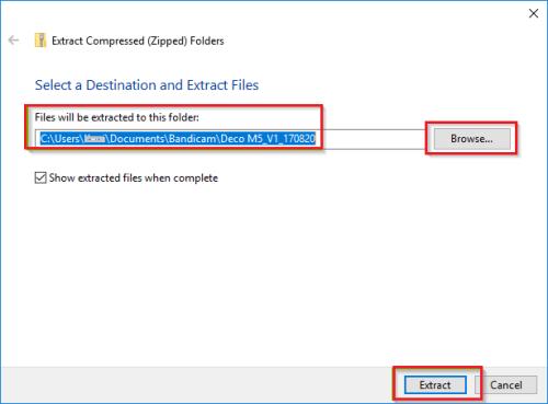 Extract (Windows) - Update Sony TV