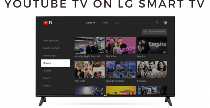YouTube TV on LG Smart TV
