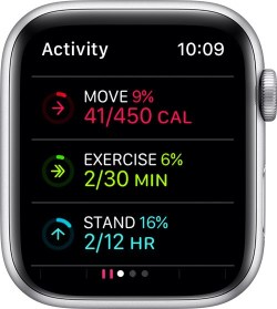 Activity history on Apple Watch