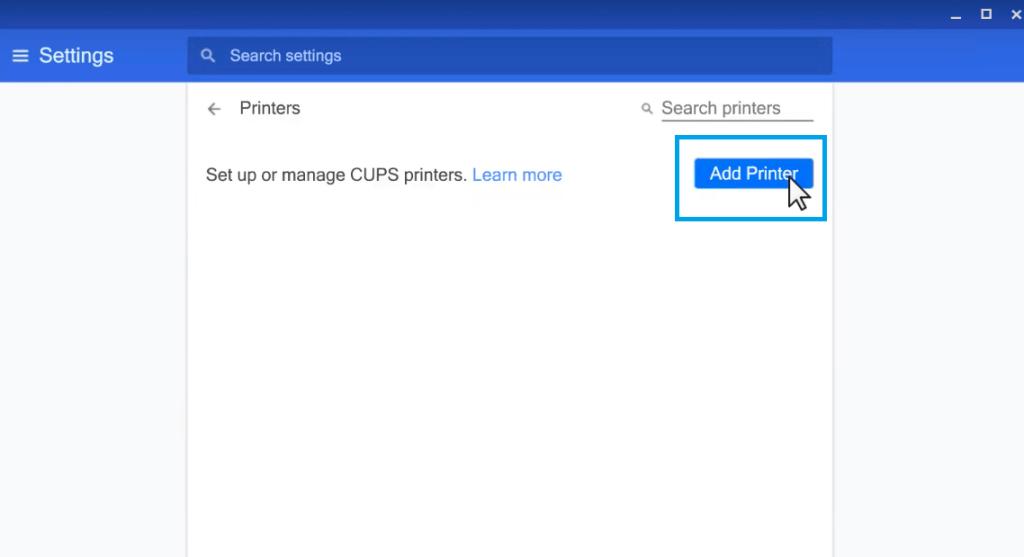 Add Printer Chromebook