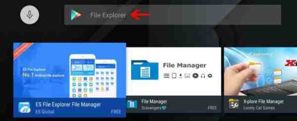 Search ES File Explorer on Play Store