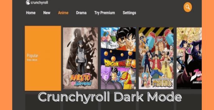 Crunchyroll Dark Mode