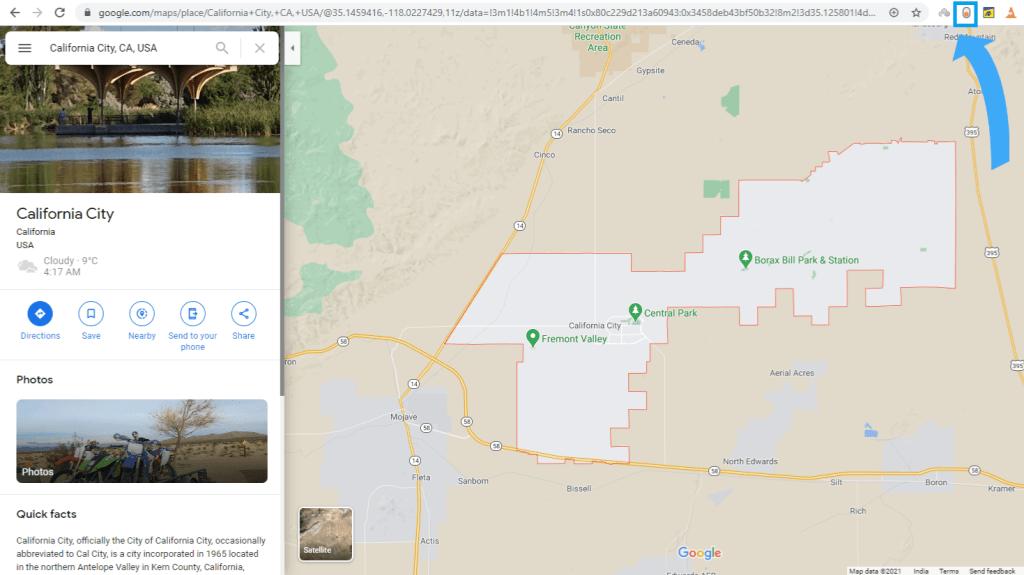 Google Maps Dark Mode