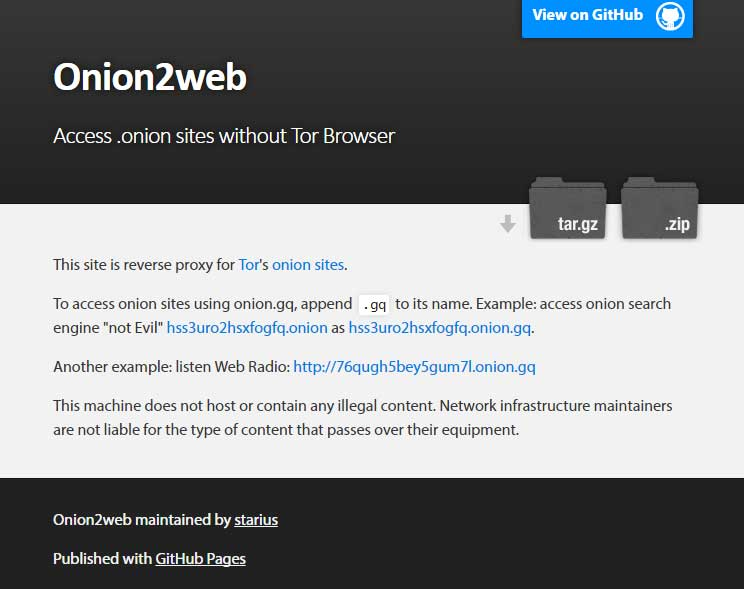 How to access deep web onion sites without using Tor