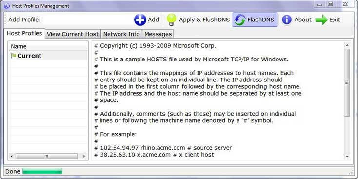 Windows Hosts File Editor and-Switcher Profiles Management