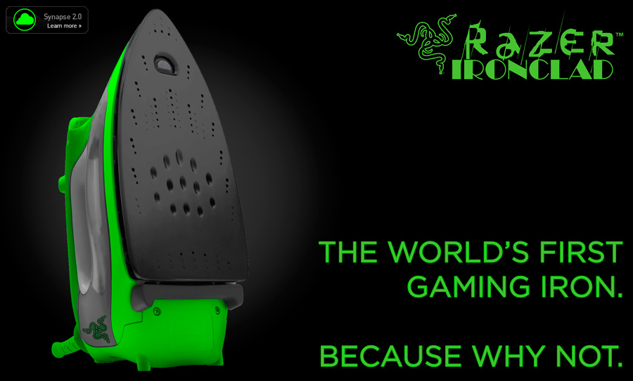 Introducing The Razer IronClad: World's First Gaming Clothes Iron