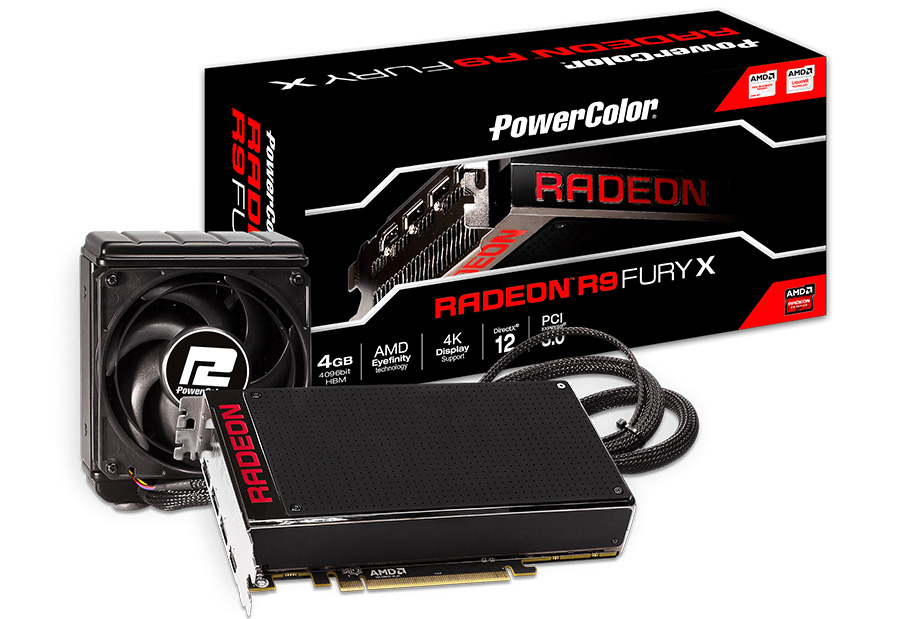 PowerColor Releases R9 FURY X 4GB HBM Flagship Card