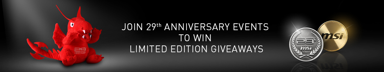 MSI Celebrates 29 Years With Fun Events & Prizes