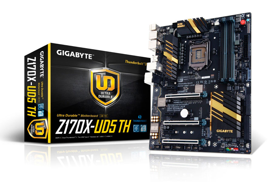 GIGABYTE Unveils Z170X-UD5 TH: World's First Intel Thunderbolt 3 Certified Board