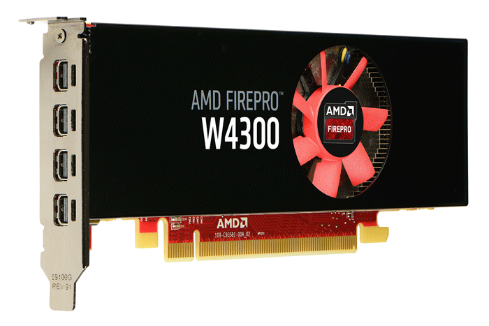 AMD Launches FirePRO W4300 Low Profile GFX Card
