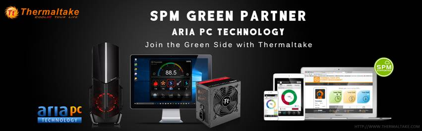 Thermaltake and First Green Partner Aria PC Technology