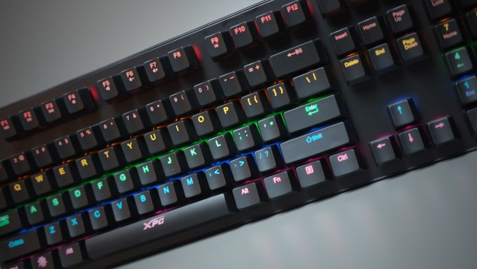 Review Adata Xpg Infarex K20 Rgb Mechanical Gaming Keyboard Techporn